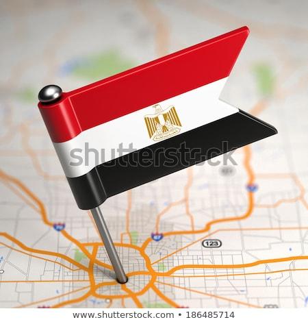 Египет небольшой флаг карта избирательный подход фон Сток-фото © tashatuvango