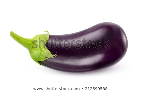 eggplants isolated on white background close up Stock photo © natika