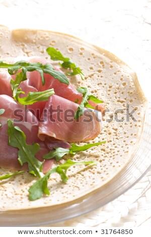francês · panqueca · italiano · presunto · comida · carne - foto stock © phbcz