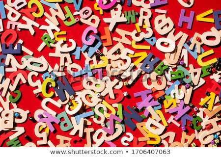 İngilizce alfabe ahşap okul soyut dizayn Stok fotoğraf © Nejron