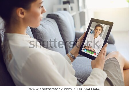 Artsen online diagnose eps bestand element Stockfoto © Voysla