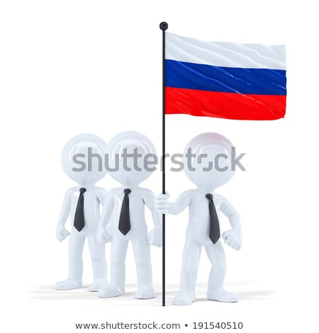 business team holding flag of russia isolated contains clipping path stock photo © kirill_m