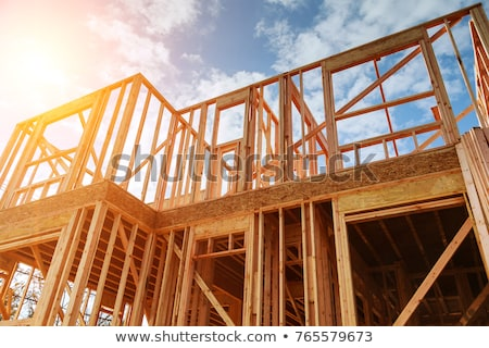 roofer working on exterior of new home stock photo © monkey_business