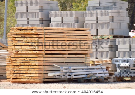 Building and construction materials in a warehouse Stock photo © juniart