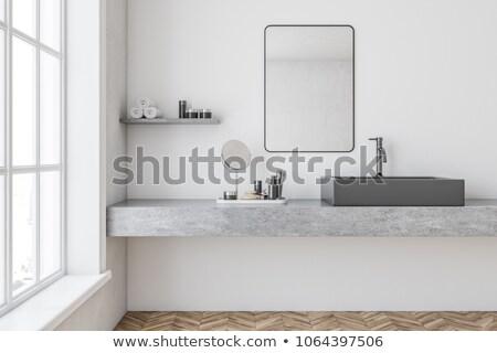 Robinet blanche mur vintage eau extérieur Photo stock © stevanovicigor