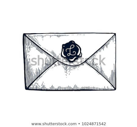 Vintage enveloppe pas visible adresse papier Photo stock © andromeda