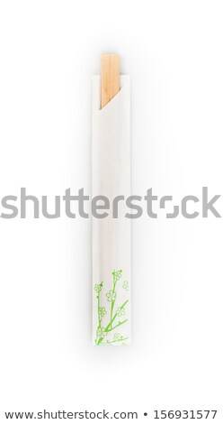 Stockfoto: Top · beschikbaar · eetstokjes · geïsoleerd · witte