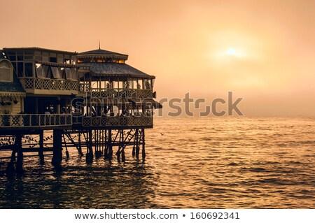 桟橋 レストラン リマ ペルー 海岸 地区 ストックフォト © Hofmeester
