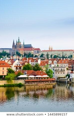 Stok fotoğraf: Prague City Morning Skyline