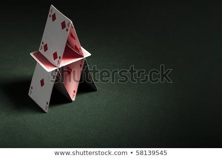 Ház kártyák izolált fehér Stock fotó © gemenacom