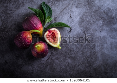 Fresh ripe figs on white Stock photo © cypher0x