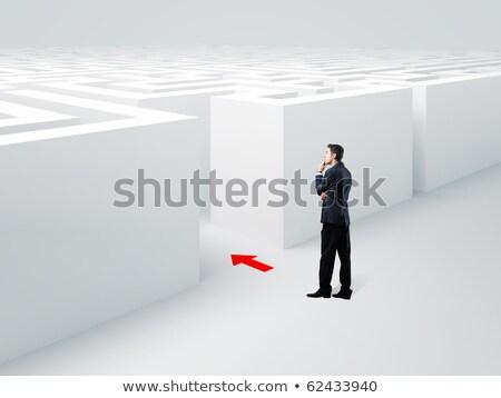 difícil · escolha · moço · escolher · deus · dinheiro - foto stock © gemenacom