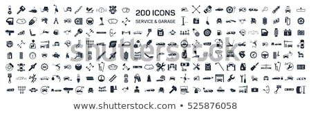 Naprawa samochodów wektora ikona podróży przemysłu prędkości Zdjęcia stock © Slobelix