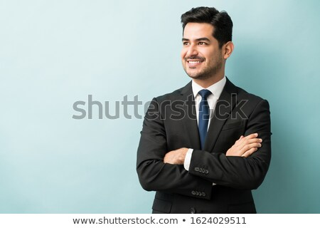 Portrait of a businessman looking away Stock photo © HASLOO