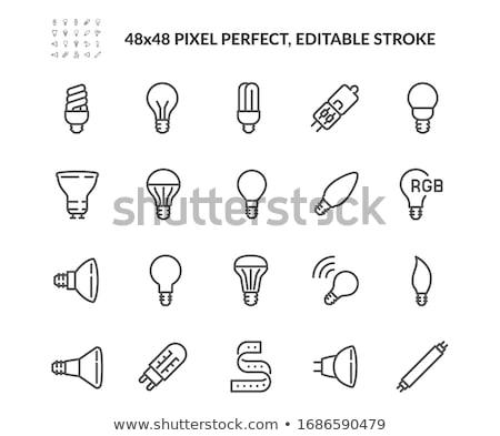 verre · lumière · idées · lampe · vecteur - photo stock © moleks