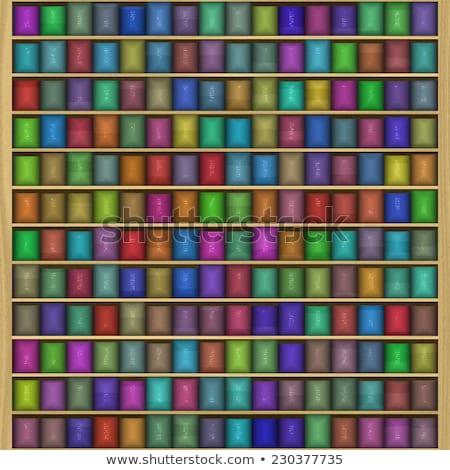 Texture divertente colore scaffale libreria senza soluzione di continuità Foto d'archivio © jarin13