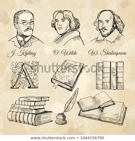 Sketch William Shakespeare portrait in vintage style Stock photo © kali