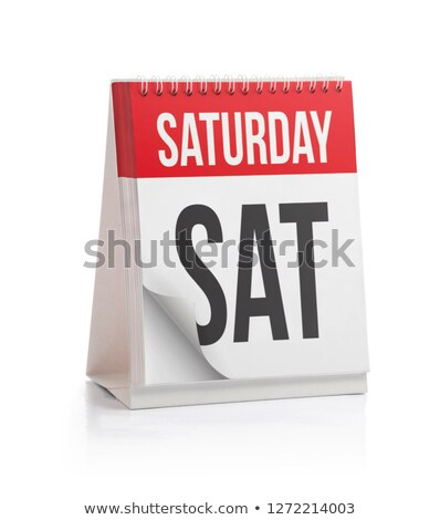 Saturday Calendar Schedule Blank Page Stock photo © stevanovicigor