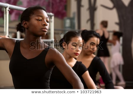 Young african woman practicing dancing Stock photo © HASLOO