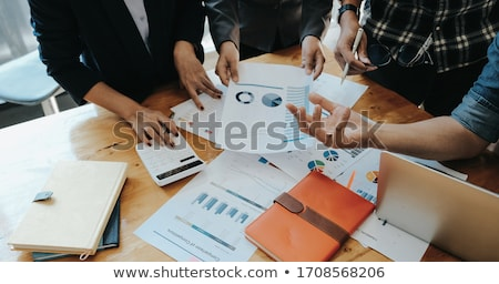 businesswoman workplace planning stock photo © hasloo