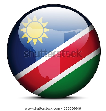 Map with Dot Pattern on flag button of Republic  Namibia Stock photo © Istanbul2009
