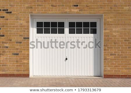 garage · veiligheid · poort · bruin · staal - stockfoto © juhku