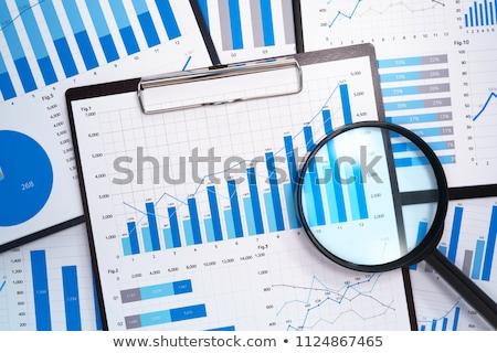 Statisztika vonal grafikon diagram ikon vektor Stock fotó © Dxinerz