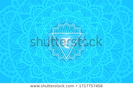 Garganta chakra ilustração corpo relaxar energia Foto stock © adrenalina