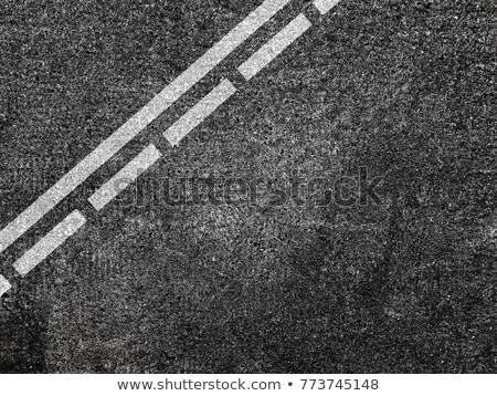 White dotted line on the Asphalt road Stock photo © klss