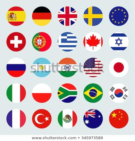 gran · bretaña · bandera · mundo · banderas · colección · arte - foto stock © dicogm