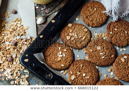 Healthy Fresh Baked Cookies with Sesame Stock photo © dariazu