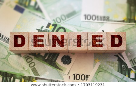 denied concept with word on folder stock photo © tashatuvango