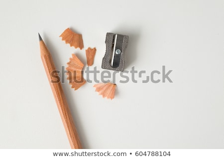 pencil shavings on white paper Stock photo © sirylok