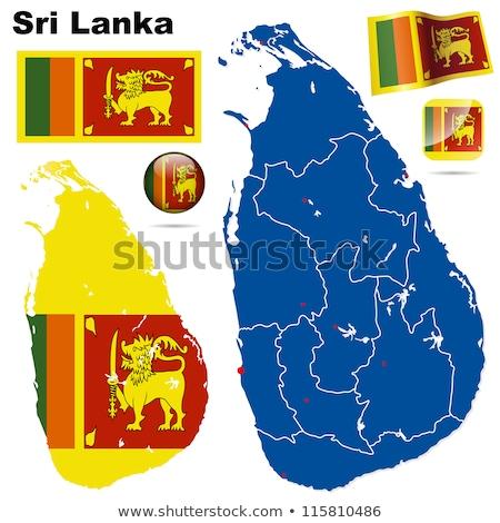 orange button with the image maps of Sri Lanka Stock photo © mayboro