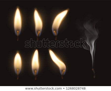 burning candle with extinguished candles Stock photo © ozaiachin