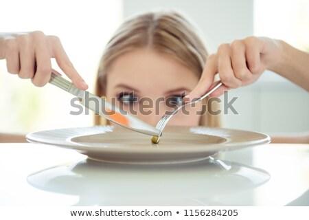 ölçüm · bant · çatal · beyaz · gıda · uygunluk - stok fotoğraf © soupstock