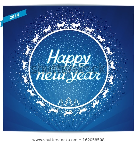 New year and cristmas card (Blue Fir). EPS 8 Stock photo © beholdereye
