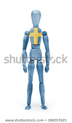 Wood figure mannequin with flag bodypaint - Sweden Stock photo © michaklootwijk