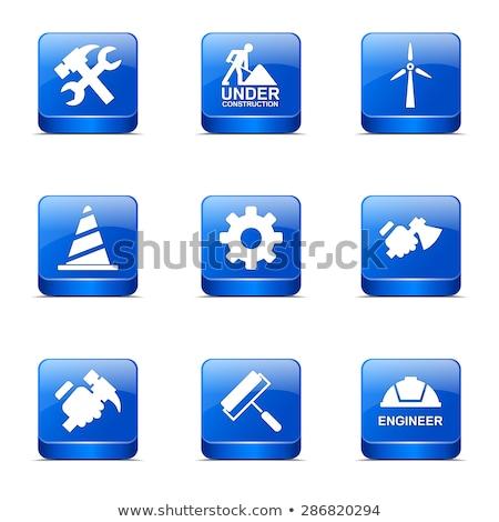construction tools square vector blue icon design set 2 stock photo © rizwanali3d