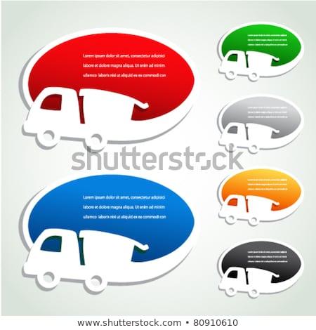 Ingyenes szállítás zöld cetlik vektor ikon terv Stock fotó © rizwanali3d