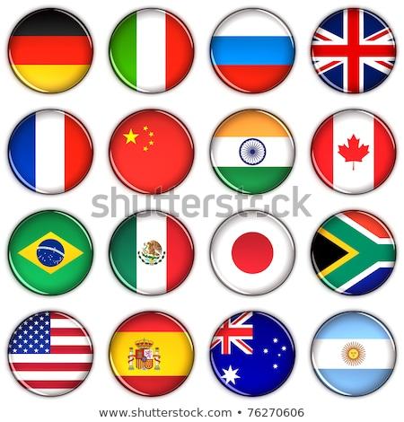 flag of united kingdom over the argentina flag stock photo © m_pavlov