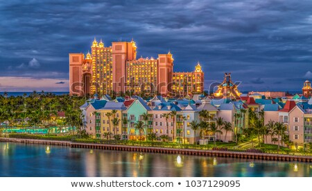 Paradise islands at night stock photo © tracer