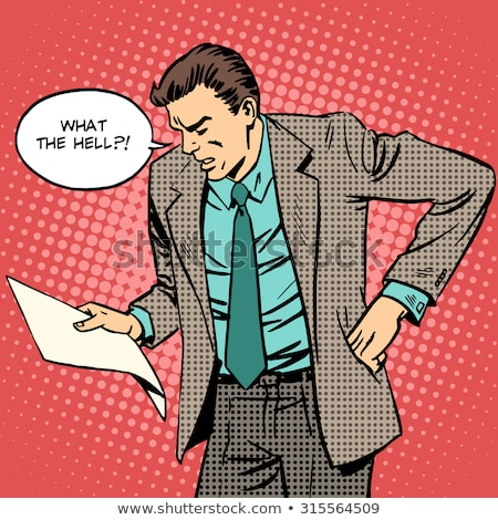 Hombre papel documento carta desagradable mensaje Foto stock © studiostoks