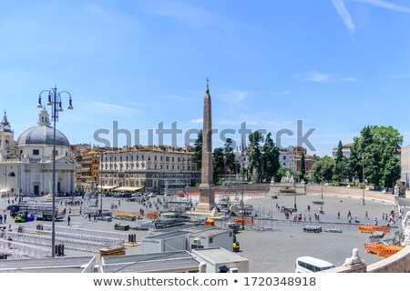 gate of piazza del popolo in rome italy stock photo © vladacanon