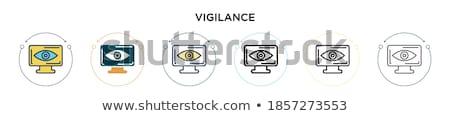 Cctv felirat arany vektor ikon terv Stock fotó © rizwanali3d