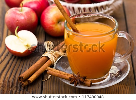 Apple cider with cinnamon sticks and apples. Stock photo © rojoimages