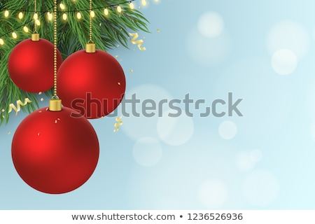 abstract christmas flyer template stock photo © pathakdesigner