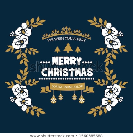 elegante · Natale · floreale · illustrazione · inverno - foto d'archivio © morphart