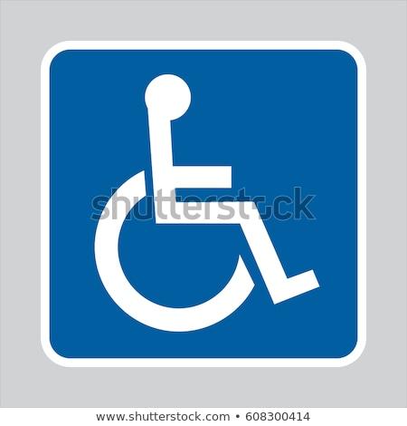 Wheel Chair blue Vector Icon Design Stock photo © rizwanali3d