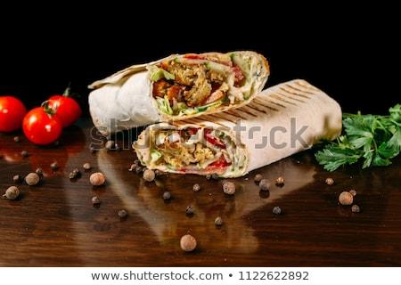 forno · carne · legumes · rústico · imagem - foto stock © nikolaydonetsk